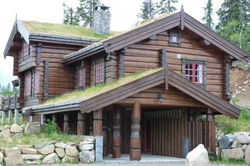 Бревенчатые фасады домов ручной рубки и домов из лафета