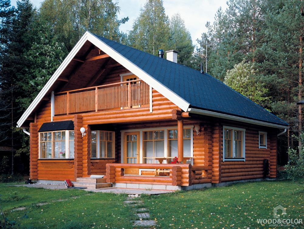 Цвета деревянных домов фото