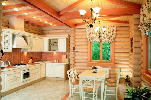 Интерьер деревянного дома   Стиль кантри