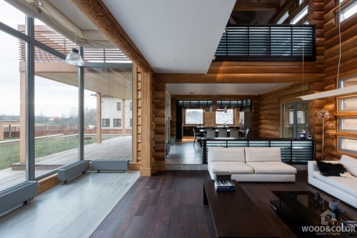 Интерьер деревянного дома   Стиль лофт