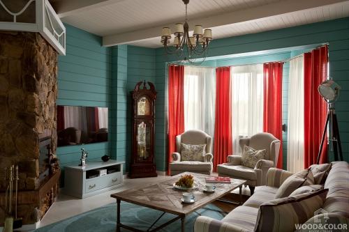 Интерьер деревянного дома   Стиль прованс