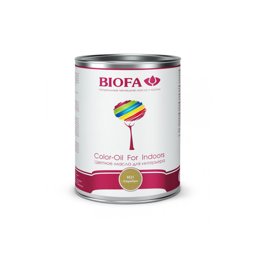 Biofa Color-Oil For Indoors. Серебро. Цветное масло